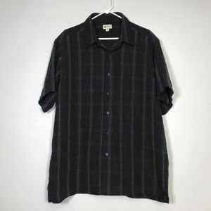 HAGGAR Short Sleeved Button Down